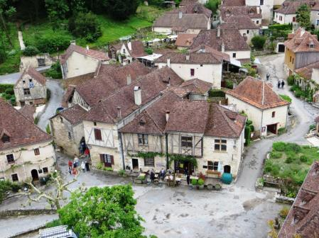 View of the village from the top of the château ruins