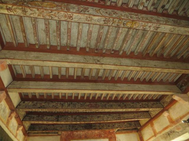 Painted ceiling in the salon