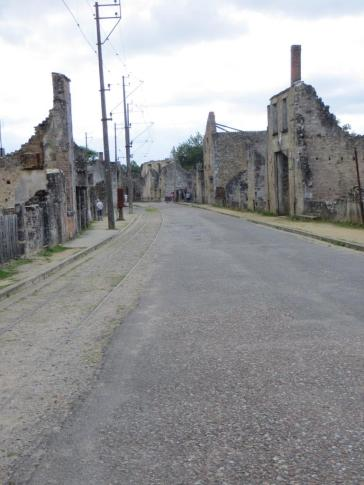 Main street in Oradour