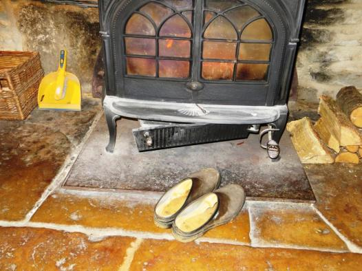 Ever the optimist, the SF has already put his clogs by the fireplace