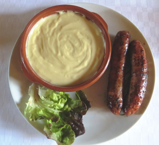 Aligot with Toulouse sausage
