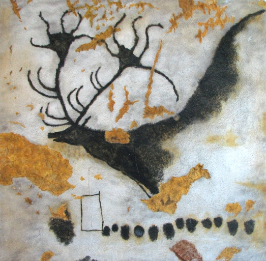 Giant deer at Lascaux, Dordogne (replica) Wikimedia Commons