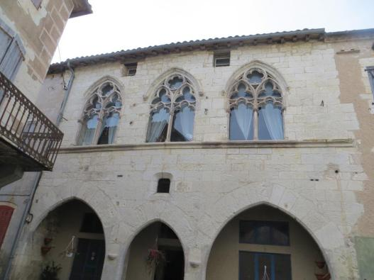 Magnificent Gothic arched windows. Believed to have been designed by the architect of Cordes-sur-Ciel