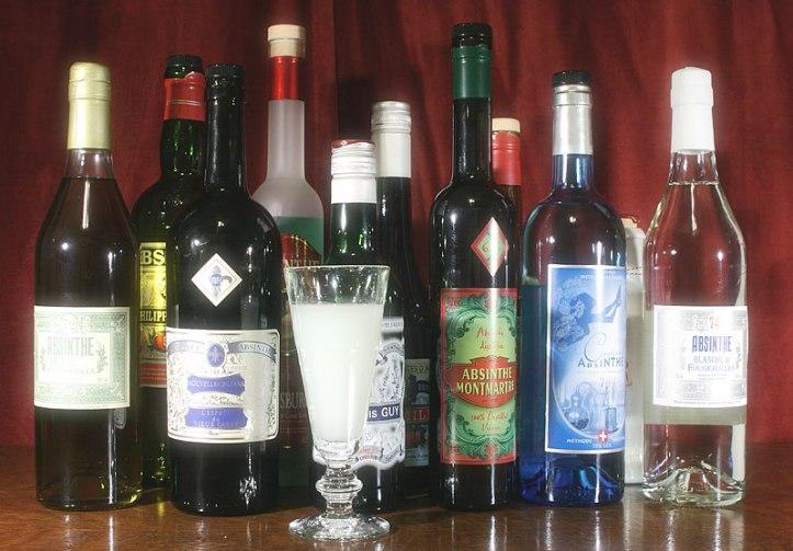 Absinthe-bottles