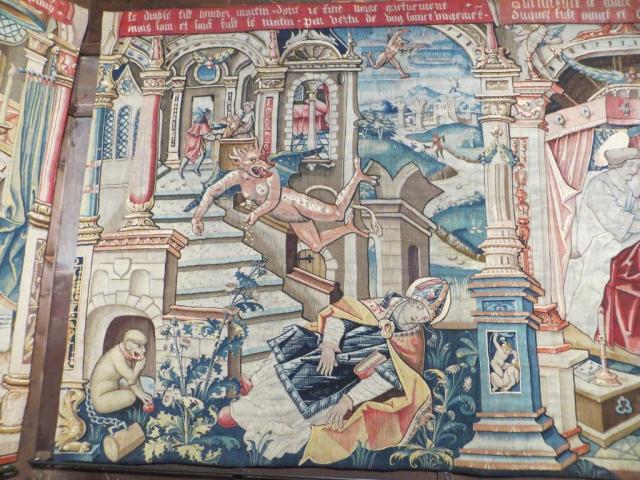 Montpezat - devil casts down St Martin
