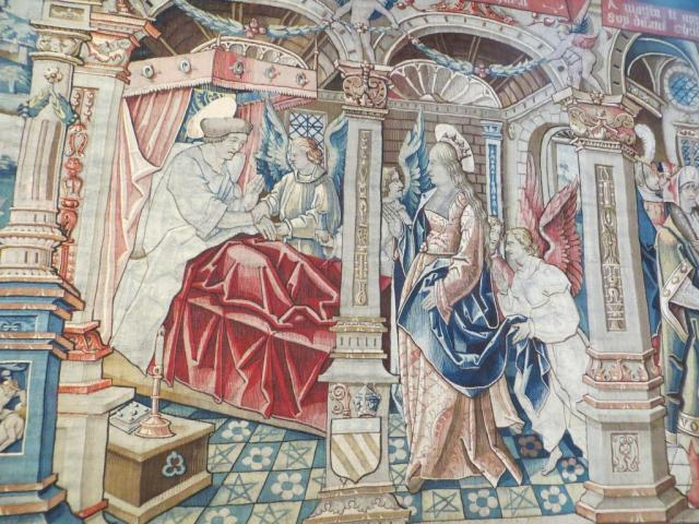 Montpezat - tapestry Virgin Mary