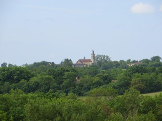 Caylus - distant spire of Lassalle