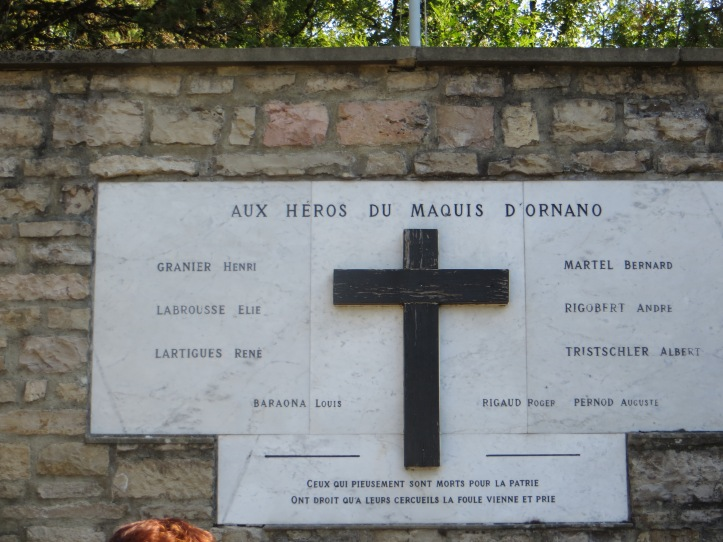 Ornano monument plaque