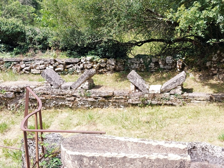 Stones by a lavoir or washing place