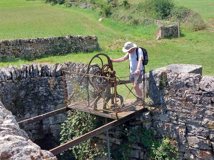 Metal water pump in SW France